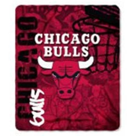 Chicago Bulls Blanket 50x60 Fleece Hard Knock Design