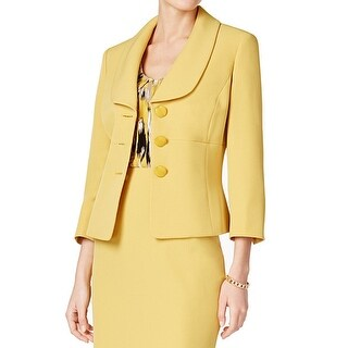 Kasper NEW Yellow Women's Size 8 Shawl Collar Three Button Blazer