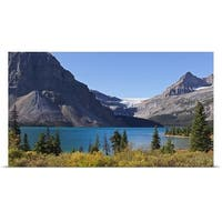 Poster Print entitled Bow lake and bow glacier, Canada