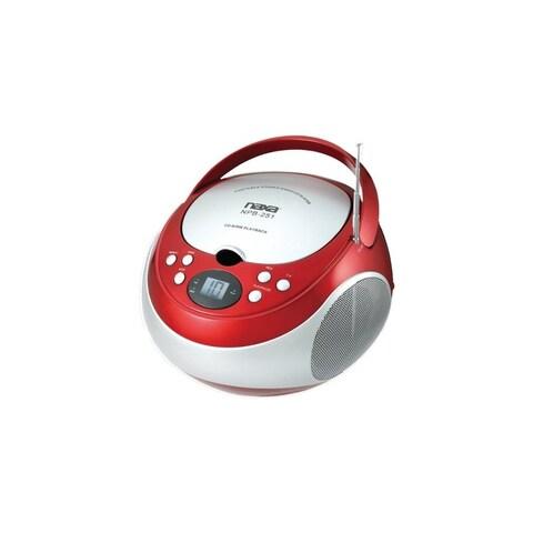 Naxa NAXNPB251RDR NAXA Electronics NPB-251RD Portable CD Player with AM/FM Stereo Radio