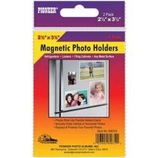 """2.5""""X3.5"""" - Magnetic Photo Holders 2/Pkg"""