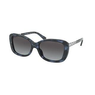 Link to Coach HC8286 55938G 57 Blue Tortoise Woman Rectangle Sunglasses Similar Items in Women's Sunglasses