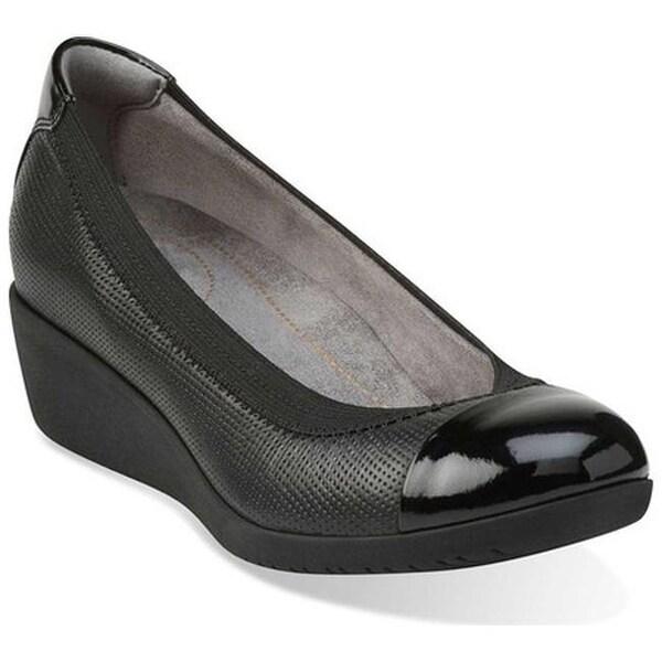 69f891c1a47 Clarks Women  x27 s Petula Sadie Cap Toe Shoe Black Full Grain Leather