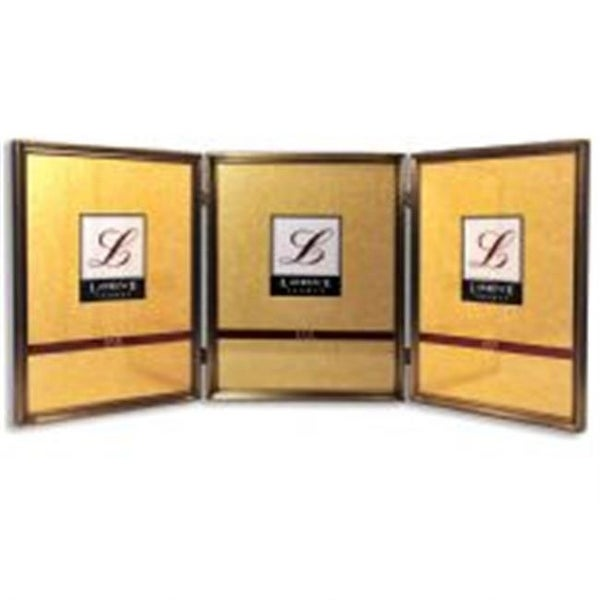 Shop Lawrenceframes 8 X 10 In Hinged Triple Picture Frame Bronze