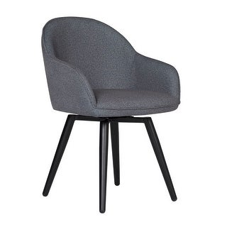 Offex Home Dome Swivel Dining/Office Chair with Arms in Charcoal Grey