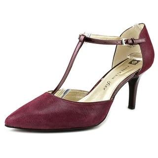 Anne Klein Yatima Women Pointed Toe Leather Burgundy Heels
