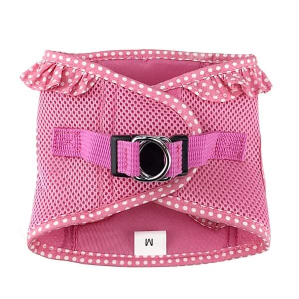 Polka Dot Trim In Pink American River Choke Free Harness Purple And Teal