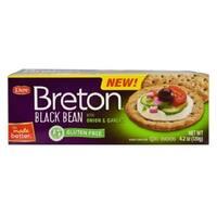 Dare Breton Crackers - Black Bean Onion and Garlic - Case of 6 - 4.2 oz.