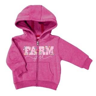Farm Girl Western Sweatshirt Girls Floral Full Zip Pink F43037072