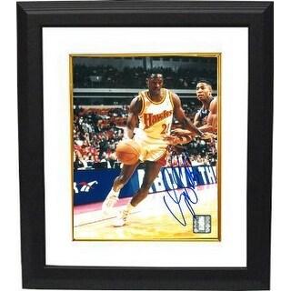 Dominique Wilkins signed Atlanta Hawks Driving to Goal 8x10 Photo Custom Framed