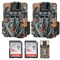 Browning Strike Force Dual Lens Trail Camera (2) with 16GB Card (2) and Reader - Camouflage