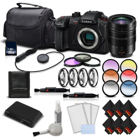 Panasonic Lumix DC-GH5S Mirrorless MFT Digital Camera Intl Version + Panasonic 12-60mm f/2.8-4 Lens Kit Bundle