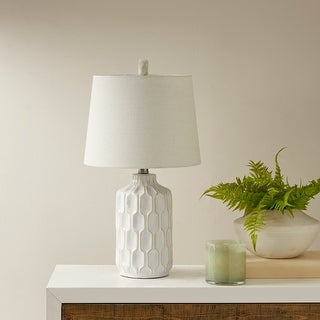 "Carson Carrington Utena Ivory Table Lamp - 11.5""W x 11.5""D x 22""H"