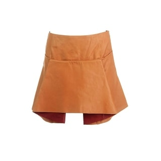 Mugler Womens Leather Silk Lined Mini Skirt - 38