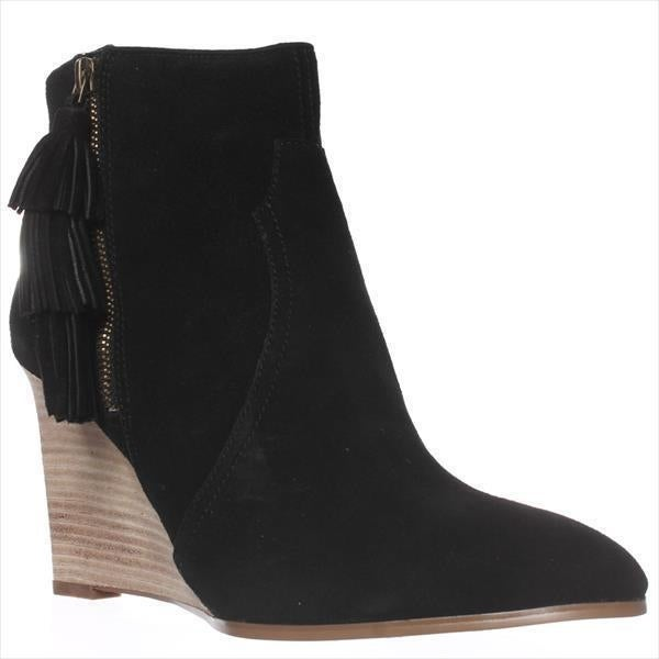 86e6d4bf8 Shop Nine West Retrolook Wedge Western Boots, Black - On Sale - Free  Shipping Today - Overstock - 14010393