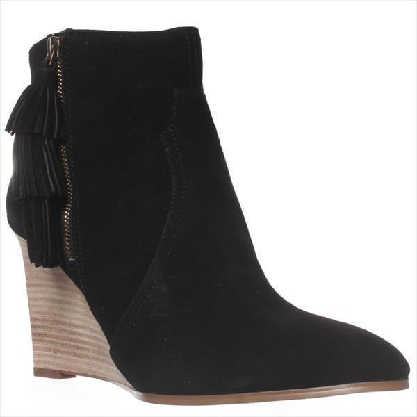 Nine West Retrolook Wedge Western Boots, Black