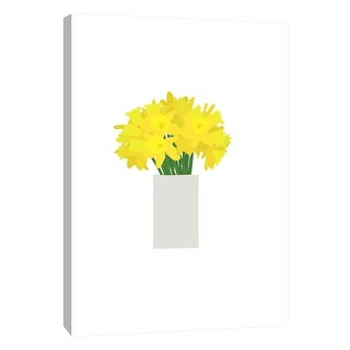 """PTM Images 9-105495  PTM Canvas Collection 10"""" x 8"""" - """"Daffodils in Vase"""" Giclee Daffodils Art Print on Canvas"""