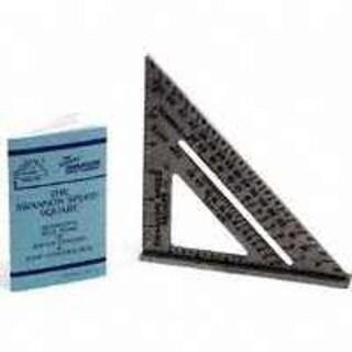 "Swanson S0101 Pocket Speed Square, 7"" x 7"", Aluminum"