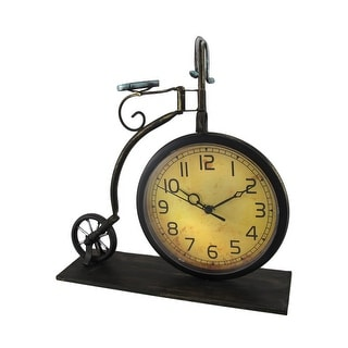 Antique Style Penny Farthing Bicycle Metal Table Clock