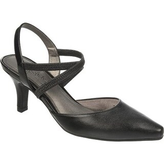 Life Stride Women's Kalea Pointed Toe Sandal Black Polyurethane