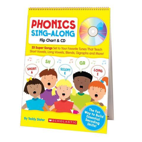 Scholastic phonics sing-along flip chart & cd 9780545104357