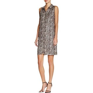 Three Dots Womens Wear to Work Dress Sleeveless Collared