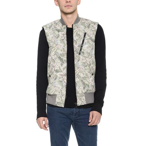 Christopher Raeburn Mens Quilted Gilet Outdoor Vest Large Multi Floral