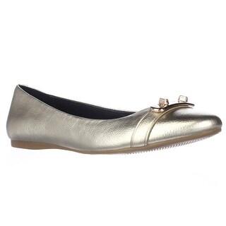 Coach Merilyn Turnlock Ballet Flats, Platinum