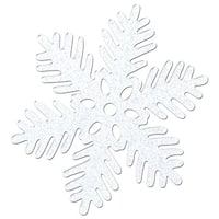 Club Pack of 48 Christmas Winter White Sparkle Snowflake 6""