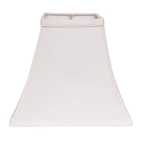 Cloth & Wire Slant Square Bell Hardback Lampshade with Washer Fitter, White