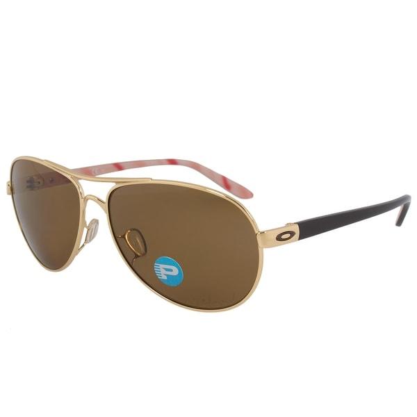 3b7ce6fe4c Shop Oakley Feedback Pilot Sunglasses 0OO4079 407908 59 POL - Free ...