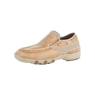 Roper Western Shoes Boys Crew Leather Mesh 09-018-1785-2011 TA