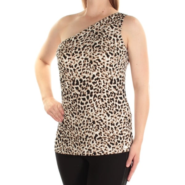 0c7072b1 Shop CALVIN KLEIN Womens Black Animal Print Sleeveless Asymetrical Neckline  Top Size: XL - Free Shipping On Orders Over $45 - Overstock.com - 24061689