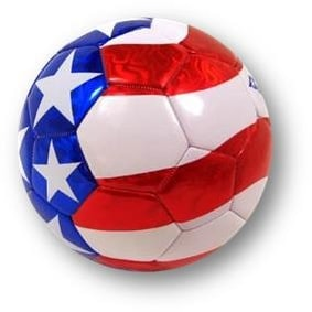 Baden Red, White and Blue Soccer Ball - Official Size 5