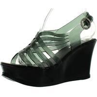 Forever Swift-11 Women's Fashion Jelly Pu Platform Flatform Sandals