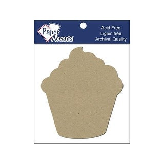 Chip Shape 8pc Cupcake Natural