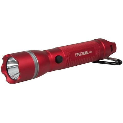 Life Gear AA35-60538-RED Search Light With Emergency Beacon Flashlight