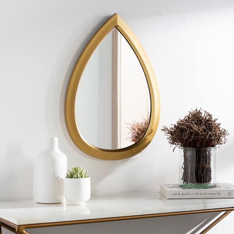 "Randyll Golden Teardrop 22x16-inch Mirror - 22""H x 16""W"