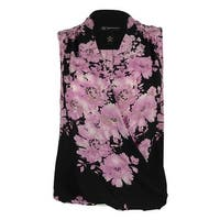 INC International Concepts Women's Sleeveless Floral Print Top
