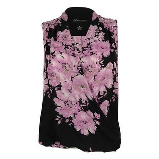 INC International Concepts Women's Sleeveless Floral Print Top - ROSE
