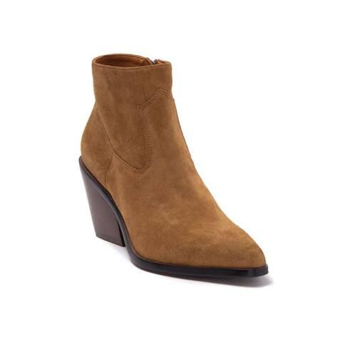 Rag & Bone Women's Suede Leather Razor Western Bootie Brown