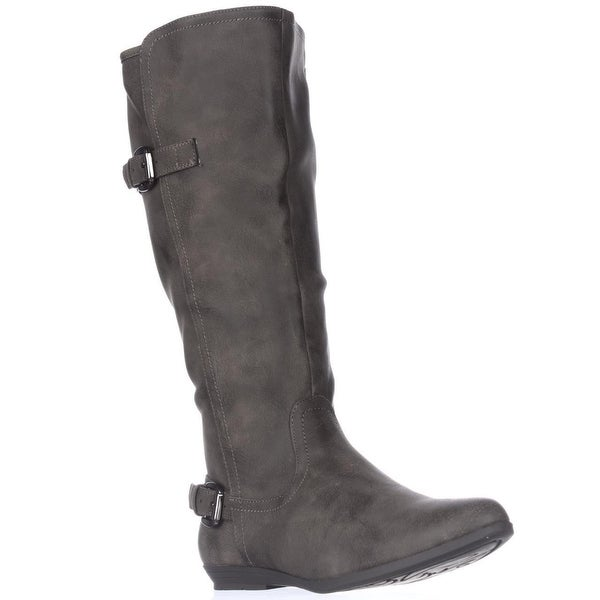 Cliffs by White Mountain Finalist Mid-Calf Flat Boots, Stone