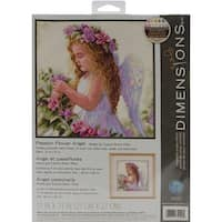 "Passion Flower Angel Counted Cross Stitch Kit-11""X11"" 14 Count"