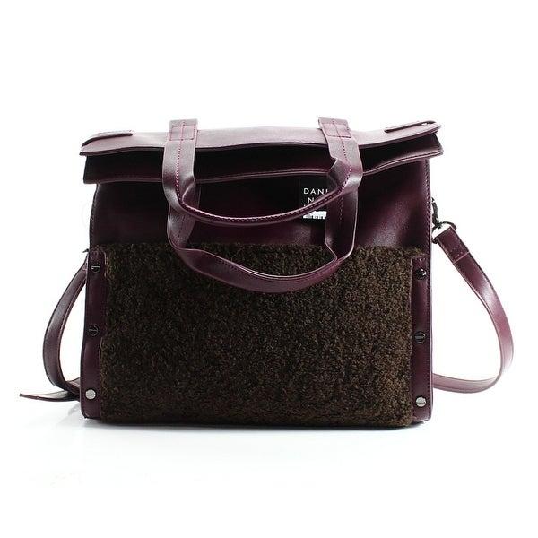 Danielle Nicole New Red Wine Pleather Minx Combo Shoulder Tote Bag Purse