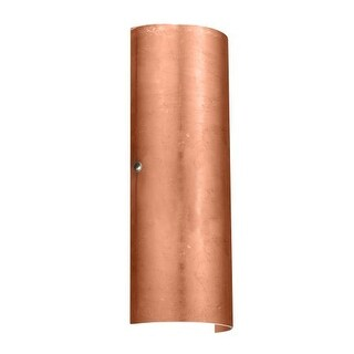 BESA Lighting 8193CF Torre 2 Light ADA Compliant Wall Sconce with Copper Foil Glass Shade