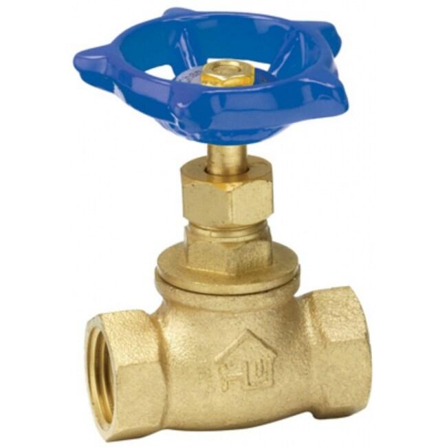 Homewerks 230-2-12-12 Lead-Free Brass Threaded Stop Valve, FIP x FIP, 1/2