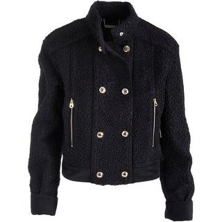 Juicy Couture Black Label Womens Velvet Shearling Jacket