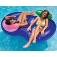"76"" Water Sports Inflatable Purple Side By Side Swimming Pool Lounger Raft"