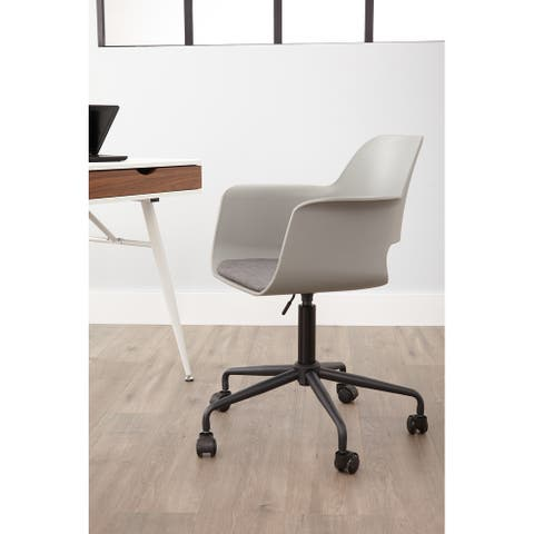 Rye Studio Whistlers Black Metal Frame Home Office Chair
