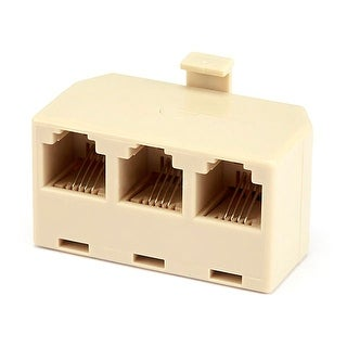 Link to Monoprice RJ11/RJ12 6P4C 1x Male to 3x Female T-Adapter Similar Items in Cables & Connectors